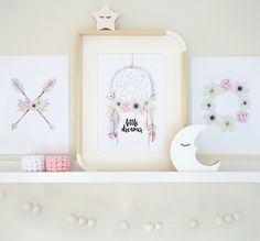 Little dreamer boho print set in A4.