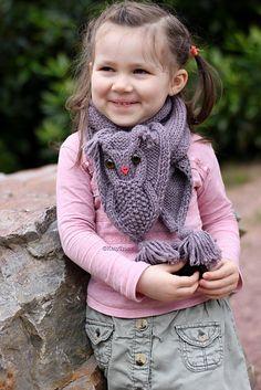 Ravelry: Owl Ways scarf pattern by Ekaterina Blanchard. Flippin cute!