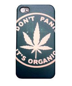 Don't panic, It's organic (No pánico, es orgánico) - Carcasa para celular, Mata de marihuana. $45.000 COP. Cómpralo aquí--> https://www.dekosas.com/productos/protector-celular-frase-organico-myto-detalle