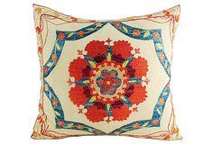 Floral  Suzani Pillow