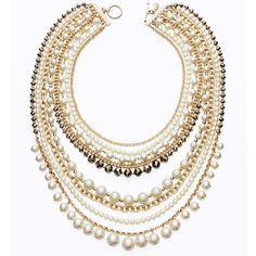 Ann Taylor Modern Classic Pearl & Chain Necklace and other apparel, accessories and trends. Browse and shop related looks.