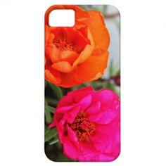 iPhone 5 case  Pink and Orange Portulaca