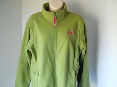The North Face XL/TG 18  Womens Green Fleece Jacket 100% Polyester #TheNorthFace #SweatshirtCrew