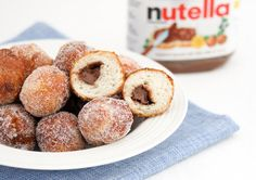 Nutella filled donut holes | Kirbie's Cravings | A San Diego food blog using Pillsbury Biscuit Dough
