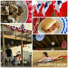 Backyard Fourth of July party