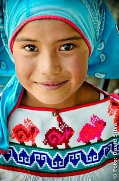 Niña Tarahumara- A Native Girl of Northwestern Mexico. #PeopleoftheWorld #GlobeIn