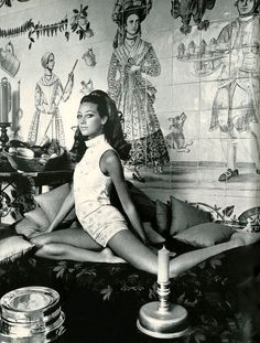 Marisa Berenson.  Photo by Arnaud de Rosnay, 1968.