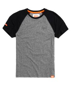 502fa0cd26d852 Mens - Orange Label Baseball Grit T-shirt in Speedster Grey Grindle
