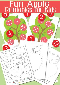 Fun Apple Printables for Kids!  Andreja from Itsy Bitsy Fun shares fun activities for your kids to get excited about going back to school!