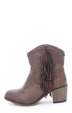 Deb Shops Short #Western Boot with Fringe $27.23