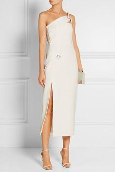 Mugler | One-shoulder crepe dress | NET-A-PORTER.COM