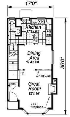 First Floor Plan of House Plan 58522