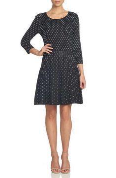 d97460489d92 CeCe Jacquard Sweater Dress Curvy Fit