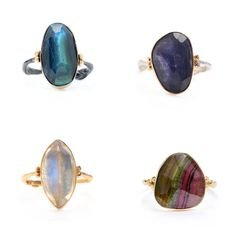 emily amey stone cocktail rings