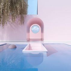 dreamy pools by Colour Architecture, Interior Architecture, Interior And Exterior, Aesthetic Rooms, Pink Aesthetic, Slim Aarons, Space Games, Modern Aesthetics, Star Citizen