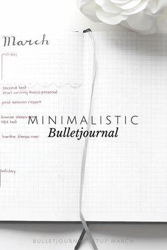 Minimalistic Bullet Journal inspiration