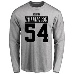 Avery Williamson Player Issued Long Sleeve T-Shirt - Ash