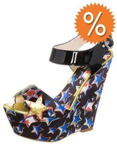Just Cavalli High Heel Sandalette laminated stars leather black auf shopstyle.de