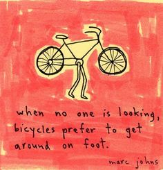 Bikes get tired too.  by dysphasic, via Flickr