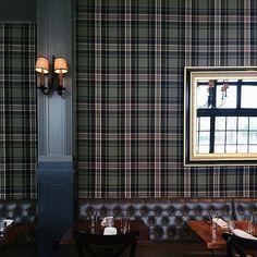 art deco home Tartan Wallpaper, Wall Wallpaper, Pub Decor, Home Decor, Interior Styling, Interior Design, Scottish Fashion, Art Deco Home, English Style