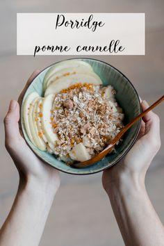 Oatmeal Porridge, Vegan Oatmeal, Healthy Breakfast Recipes, Healthy Snacks, Healthy Recipes, Plats Healthy, Porridge Recipes, Bowl Cake, Clean Eating
