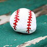 Rock Baseball Craft - paint for softball and write a bible verse on it