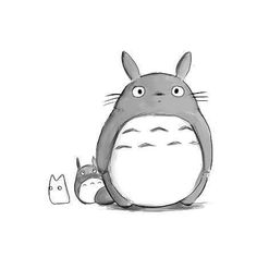 One of my childhood favorites, Totoro. All the characters in that movie are cute. Mehr