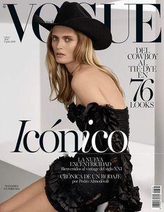 Malgosia Bela y el nuevo 'cowboy' en la portada de #Vogue Spain April 2016. ¡Yiiiiha! © Miguel Reveriego / Realización: Belén Antolín