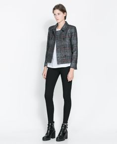 Image 1 of DOUBLE BREASTED CHECKED BLAZER from Zara