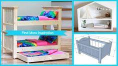 dolls bed diy cardboard - Google Search Diy Cardboard, Diy Bed, Diy Doll, Bunk Beds, Dolls, Google Search, Furniture, Home Decor, Baby Dolls