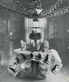 A Vintage Halloween Table