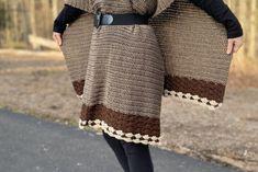Home - Simple Things Crochet Crochet Waistcoat, Crochet Poncho, Easy Crochet, Crochet Wraps, Crochet Yarn, Half Double Crochet, Single Crochet, Long Sweaters For Women, Ombre Yarn