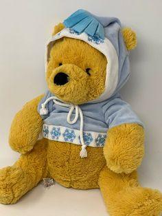 Disney Store Plush Nordic Winnie Pooh in Snowflake Hoodie 12 Soft Stuffed Toy Winnie The Pooh Plush, Disney Winnie The Pooh, Pooh Bear, Tigger, Happy Birthday Bear, Stuffed Toy, Stuffed Animals, Vintage Disney, Plush Dolls