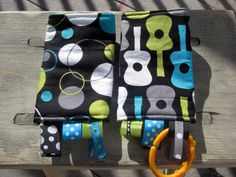 BABY CARRIERS sucking/drool pads Guitars by kristywillie on Etsy, $12.00