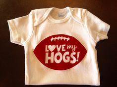 Arkansas Razorback Baby Onesie Hogs Outfit by TheDandyLion49