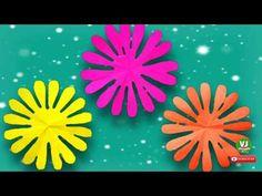 How to Make Sixteen Petals Flower/DIY/Paper Flowers Craft - YouTube Flower Diy, Flower Crafts, Vj Art, Paper Flowers Craft, Diy Pins, All Flowers, Craft Work, Diy Paper, Lovers Art