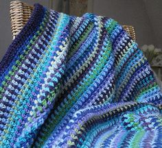 lyndamk's Lavender Fields Blanket, This is a simple hdc, chain 1 pattern....
