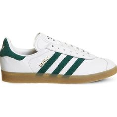 ADIDAS Gazelle lace-up leather trainers (130 AUD) ❤ liked on Polyvore  featuring 6a43032f2bc4