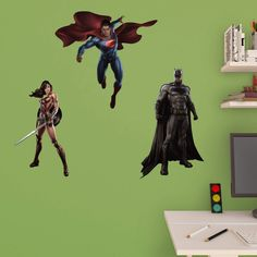 Fathead Batman vs. Superman - Junior Wall Decal Collection - 15-17151