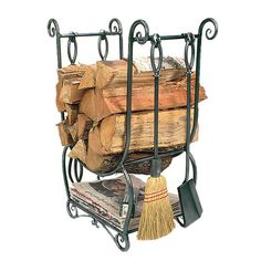Found it at Wayfair - Country Wrought Iron Log Holder with Toolshttp://www.wayfair.com/daily-sales/p/Stay-Warm%3A-Fireplaces-for-Indoors-%26-Out-Country-Wrought-Iron-Log-Holder-with-Tools~XMM1102~E15239.html?refid=SBP.rBAZEVQtj5EXXEwiDDHbAsCYAi6D8U-xv-FupM5xXcA