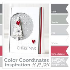 Color Coordinates Recipe Card!! (Simon Says Stamp Blog!)
