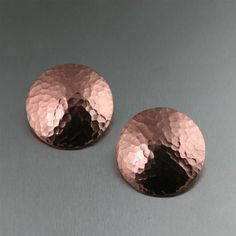 Stylish Hammered Copper Disc Earrings Offered on https://www.johnsbrana.com/hammered-copper-disc-earrings-1084.html #JohnSBrana #Hancrafted