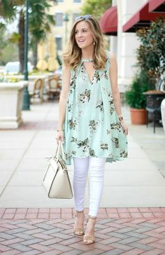 I'm so happy for warmer weather, because that means pretty sleeveless tops and open toed shoes. Oh the spring life! I found this hidden gem tucked away in a rack at Belk and couldn't help myself but t