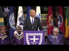 """President Barack Obama Delivers Epic Eulogy for Rev. Clementa Pinckney, Brings Church to Its Feet By Singing """"Amazing Grace"""" (FULL VIDEO)   GOOD BLACK NEWS"""