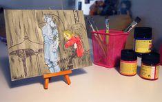 Anime canvas board / Fullmetal alchemist canvas / original watercolor painting / fine art