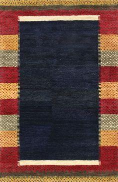 Rugsville Gabbeh Indigo Blue Wool Rug 11752