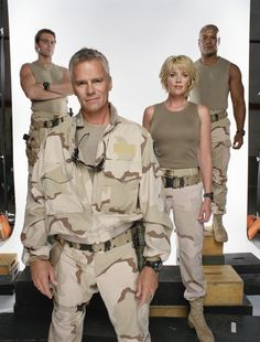 Michael Shanks, Richard Dean Anderson, Amanda Tapping, and Christopher Judge
