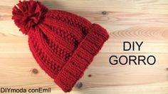 Gorro de punto con dos agujas paso a paso. Crochet Poncho, Crochet Baby Hats, Knitted Hats, Knit Crochet, Tricot Baby, Crochet Fashion, Baby Knitting Patterns, Diy And Crafts, Beanie