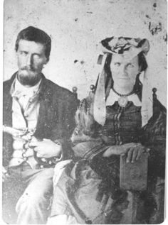 John G. Burnett and his wife Rebecca Burnett - Cherokee - no date