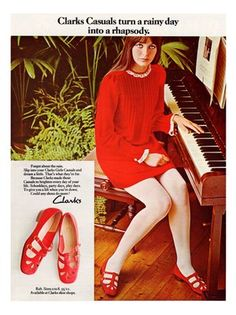 Clarks Shoes advertisement from1960s.... the comfiest shoes ever.